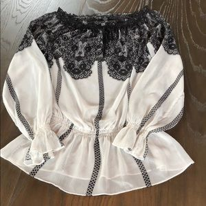 Beautiful black & white INC Blouse 8